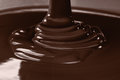 Pouring Liquid Hot Chocolate Closeup. Cooking Dessert. Royalty Free Stock Photography - 91476427