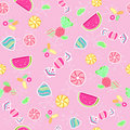 Candy Seamless Repeat Pattern Vector Royalty Free Stock Image - 9157116