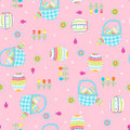 Easter Baskets Seamless Repeat Pattern Royalty Free Stock Photo - 9157125