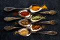 Spices And Herbs Spoons Royalty Free Stock Photography - 91504277