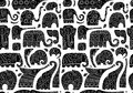 Ornate Elephants, Seamless Pattern For Your Design Stock Photo - 91508140
