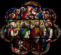 The Last Supper In Stained Glass Stock Photography - 91508642