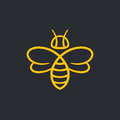 Bee Logo Design Royalty Free Stock Photography - 91508847