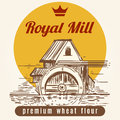 Royal Mill Banner Design Royalty Free Stock Photo - 91513575