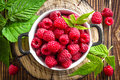 Fresh Raspberry With Leaves Royalty Free Stock Image - 91517006