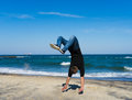 Young Parkour Man Doing Flip Or Somersault Royalty Free Stock Photos - 91526458