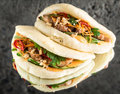 Gua Bao With Chicken Stock Images - 91557124