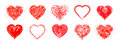 The Drawn  Hearts  For  Mother`s Day, Valentine`s Day Or Weddings Stock Images - 91557574