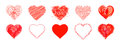 The Drawn  Hearts  For  Mother`s Day, Valentine`s Day Or Weddings Royalty Free Stock Photos - 91557678