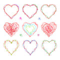The Drawn  Heart  For  Mother`s Day, Valentine`s Day Or Weddings Royalty Free Stock Images - 91559919