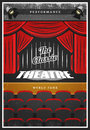 Vintage Colored Theatre Advertising Poster Stock Photo - 91560330