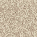 Ethnic Floral Seamless Pattern Stock Photos - 91581263