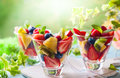 Fruit And Berry Salad Stock Images - 91585154