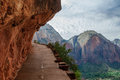 Angels Landing Hiking Trail In Zion National Park Stock Image - 91592391