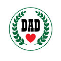 Dad Fathers Day Crest Stock Image - 91593381