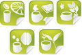 Beverage Stickers Royalty Free Stock Images - 9164099