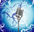 Old Microphone Music Background Royalty Free Stock Images - 9164579