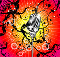 Old Microphone Music Background Stock Photos - 9164843