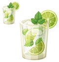 Mojito Illustration. Cartoon Vector Icon Isolated On White Background Royalty Free Stock Images - 91618649