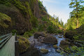 People Along Tanner Creek In The Columbia River Gorge Royalty Free Stock Photo - 91623005