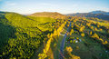 Great Alpine Road Passing Through Australian Countryside At Suns Royalty Free Stock Image - 91635076
