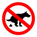 No Dogs Poop Vector Sign Royalty Free Stock Photography - 91637727
