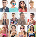 Collection Of Different Many Happy Smiling Young People Faces Caucasian Women And Men. Concept Business, Avatar. Royalty Free Stock Image - 91639446