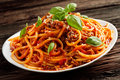 Heaped Plate Of Italian Spaghetti Bolognaise Royalty Free Stock Images - 91647719