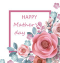 Postcard To Mother`s Day, With Paper Flowers. Illustration Can Be Used In The Newsletter, Brochures, Postcards, Tickets Stock Images - 91659654