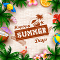 Summer Time Poster Wallpaper For Fun Party Invitation Banner Template Stock Images - 91667264
