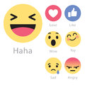 Facebook Rolls Out Five New Emoticon Icons Royalty Free Stock Photos - 91667618