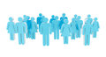 White And Blue Group Of People Icon 3D Rendering Stock Photo - 91673640