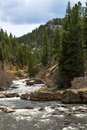 Rushing Stream River Water Through Eleven Mile Canyon Colorado Stock Photography - 91678142