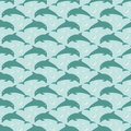 Pattern With Jumping Dolphins Stock Images - 91680234