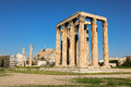 Temple Of Olympian Zeus And Acropolis Hill, Athens, Greece. Royalty Free Stock Photos - 91681908