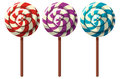 Three Flavors Of Lollipops Royalty Free Stock Images - 91695299