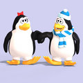 Penguin Couple In Love Stock Photography - 9178612