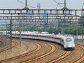Bullet Train Departs From Beijing, China Stock Photography - 91702812