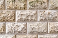 Stone Background, Sand Wall Pattern Texture. Yellow Natural Stone Facade, Wall Tiles. Stock Image - 91712381