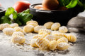 Uncooked Homemade Gnocchi Royalty Free Stock Images - 91716289