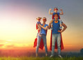Concept Of Super Family. Royalty Free Stock Photo - 91718145