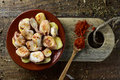 Pulpo A La Gallega, A Recipe Of Octopus Typical In Spain Royalty Free Stock Photo - 91731745