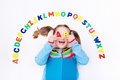 Child Learning Letters Of Alphabet And Reading Royalty Free Stock Photos - 91733138