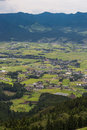 Aso Village And Agriculture Field In Kumamoto, Japan Stock Images - 91733174