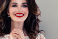 Smiling Model Woman With Cute Healthy Smile. Pretty Face Closeup Royalty Free Stock Photos - 91739368