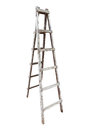 Old Wooden Ladder Isolated On White Background Royalty Free Stock Images - 91762469