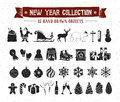 New Year Icons Set. Stock Images - 91789314