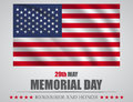 Remember And Honor Banner For Memorial Day. American Flag On Gray Background Royalty Free Stock Photo - 91799845