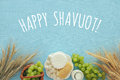 Dairy Products And Fruits. Symbols Of Jewish Holiday - Shavuot Stock Image - 91800061