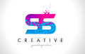 SS S S Letter Logo With Shattered Broken Blue Pink Texture Desig Stock Images - 91807844